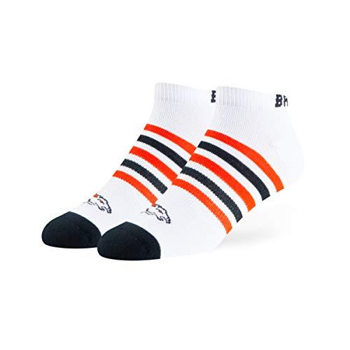 NFL Denver Broncos OTS Venom Low Cut Socken, Weiß, Größe L