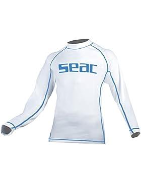 Seac Sunguard Long T-Shirt Anti-Uv Ragazzo Maniche Lunghe, Bianco, 9 Anni