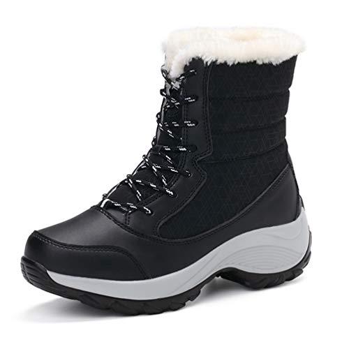 Winter Frauen Keile Schneeschuhe Mitte Der Wade Plattform Stiefelette Hohe Warme Pelz Plüsch Regen Schuhe Für Frauen Wanderschuhe