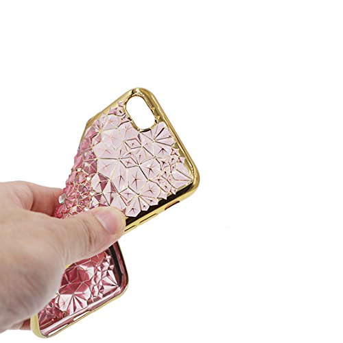 iPhone 6s Custodia, Fashion Silicone trasparente morbido Cover Shell per iPhone 6s Copertura / 3D Bling diamante / iPhone 6 / 6S Case 4.7 Anti shock Durable color 1
