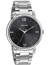 Sonata Analog Black Dial Men's Watch-7142SM02