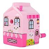 Modenny Crayon Taille Machines Crank School Papeterie Bureau Kawaii Family Modèle Cadeau Pour Enfants Étudiants (Color : Pink)