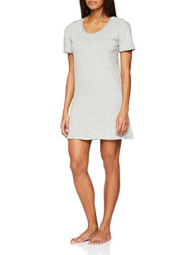Calvin klein s/s nightshirt, top pigiama donna, grigio (grey heather 020), 44 (taglia produttore: medium)
