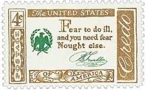 1140-1960-4c-american-credo-b-franklin-postage-stamp-numbered-plate-block-4-by-usps