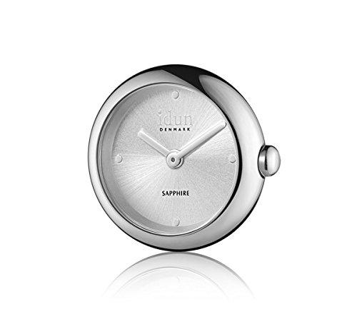 Idun Denmark - Rocking Charm-Watch mit Silber Sunray-Ziffernblatt - RCW1500