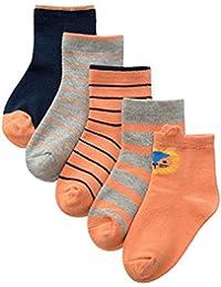 ANIMQUE Calcetines de algodón para niños de 1 a 12 años Muchachos Chicas Calcetines diarios básicos