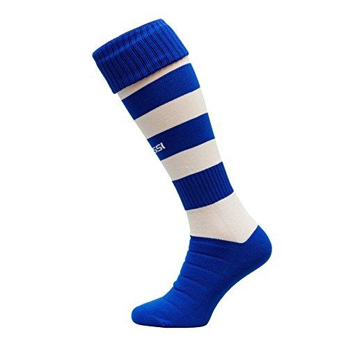 calcio-calzettoni-modello-c-calcio-calze-calzettoni-100-traspirante-molti-colori-blu-bianco-42-44