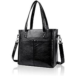 Tisdaini Las mujeres bolsos de moda retro tote bag nuevo gran capacidad diagonal paquete de bandolera