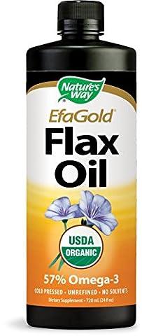 Natures Way Flax Oil, 24 Oz Liquid