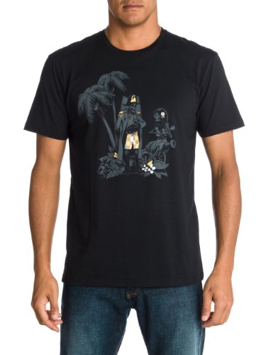 Quiksilver - Maglietta, Manica corta, Uomo nero (Noir - Noir)