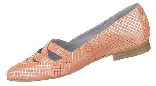 Damen Schuhe Pumps Komfort Leder Orange