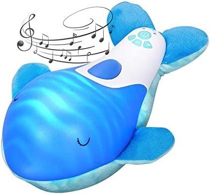 Per des animaux en peluche peluche peluche pour les bébés aident à dormir des jouets en peluche avec de la musique et des lumières pour les nuits jouets Dudu cadeau d'anniversaire en peluche | La Mode  cfbaa5