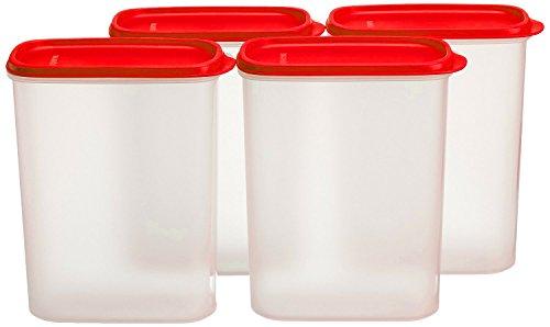 Tupperware New Smart Saver Plastic Container Set, 2.3 Litres, Set of 4, Transparent