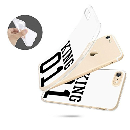 finoo | iPhone 6 / 6S Handy-Tasche Schutzhülle | ultra leichte transparente Handyhülle aus flexiblen Silikon | stylisches TPU Cover Case mit Motiv | King one schwarz King one weiß