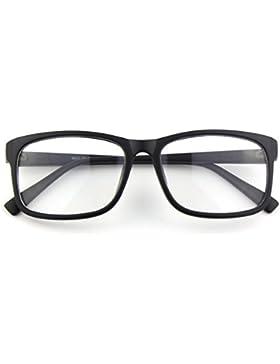 CGID CN12 Retro Clubmaster Wayfarer Anteojos Lente Claro Gafas Para Mujer y Hombre