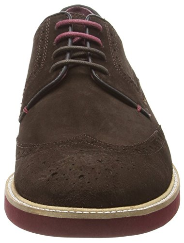 Ted Baker Archerr 2, Scarpe Stringate Basse Brogue Uomo Marrone