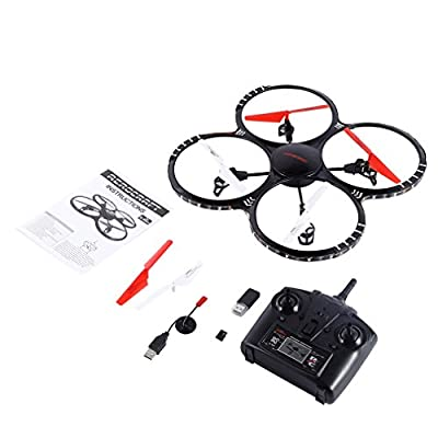 RC Quadcopter drone with 0.3MP HD Camera and Height Hold Function,FPVRC X5C-1 2.4G Headless 3D Flip Flying Airplane One key Home Remote Control Helicopter(White)