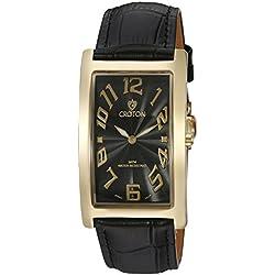 Croton Herren cn307533ylbk Aristocrat Analog Display Quartz Black Watch