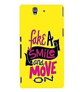 EPICCASE Fake Smile Mobile Back Case Cover For Sony Xperia Z (Designer Case)