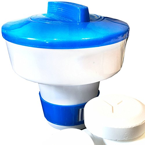 Weigand Maxi Dosierschwimmer für bis zu 5 Chlor oder Sauerstoff Tabletten á 200 Gramm - für Pool, Whirlpool, Quick Up & Planschbecken, ca. Ø 17,5 cm x h 18 cm I 753