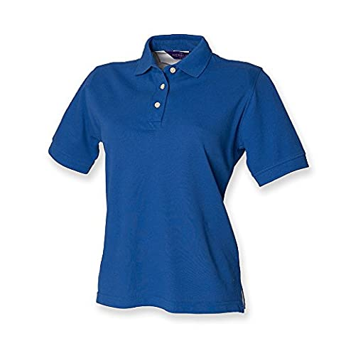Henbury Ladies Classic Pique Polo Shirt : Color - Royal : Size - 12