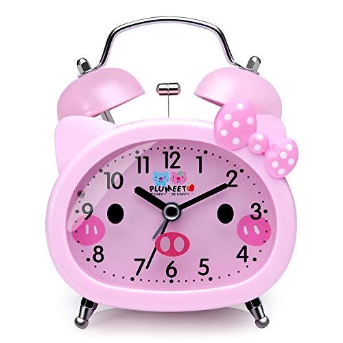 Justamente lo que los niños adoran  Pantalla amigable, diseño limpio y lindo, encantadora forma de gato, excelente regalo en cumpleaños o festivales, ¡especialmente diseñado para niños, adolescentes y adultos mayores!  Reloj despertador súper ruidoso...