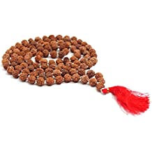 Rudraksha Japa Mala 8 mm| Authentic Indian 108 Beads | Hand-picked | Rosary for chanting by Ikshvaku