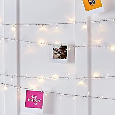 Indoor Fairy Lights with Warm White LEDs on Clear Cable by Lights4fun