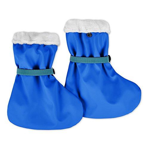 lovely lemon Gefütterte Regenfüßlinge in Blau für Jungs | Öko Tex Standard 100 | One Size für Babys und Kleinkinder | Wasserdicht | verschweißte Nähte | Waschbar bei 40° C -