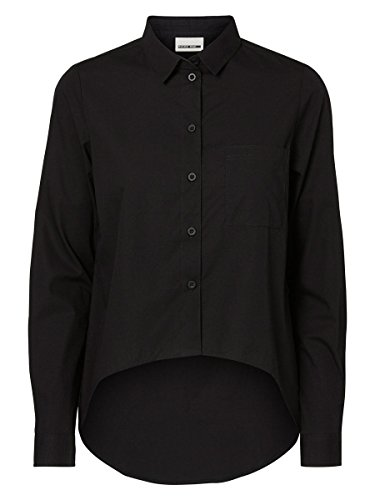 NOISY MAY - Camicia da donna regular fit cana high low xl nero