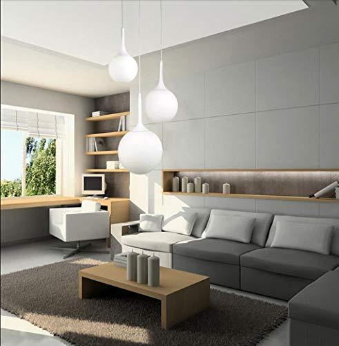 Moderno E Minimalista Di Personalità Creative Living Room Bedroom Den Ristorante Illuminazione Sfera Di Vetro Lampadario Lampadari Indoor (Dimensione : B)