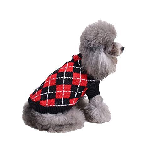 Meiqipetbaby® Hundepullover, Strickpullover, Weihnachten, für den Winter, warm