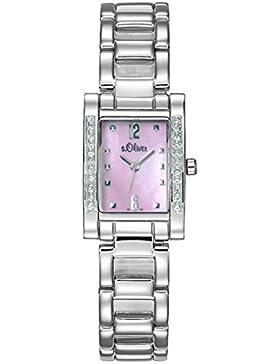 s.Oliver Damen-Armbanduhr Analog Quarz SO-15009-MQR