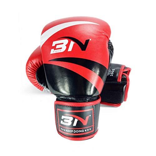 STQJKLM 8/10/12 Unzen Kinder Erwachsene Frauen Männer Sparring MMA Muay Thai Boxhandschuhe Martial Arts Grappling Mitts Kickboxing Gear 12Oz Red -