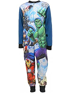 Marvel Avengers Superheroes Boys Fleece One Piece Sleepsuit