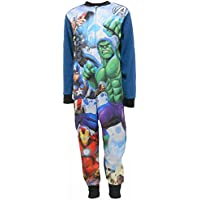 Marvel Avengers Superheroes Boys Fleece One Piece Sleepsuit