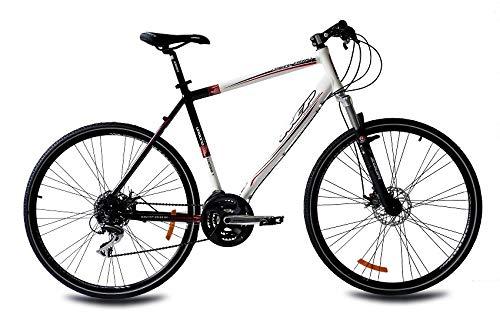 KCP 28 Zoll Crossfahrrad - Urbano Crossline 1.0 Gent - Herren Crossrad mit 24 Gang Shimano Acera Kettenschaltung, bequemtes Fitnessbike für Männer