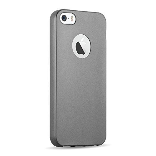 iPhone 8, iPhone 7 Silikonhülle | JAMMYLIZARD Schutzhülle [Jelly Cover] Silikon TPU Slim Backcover Case Hülle Matt Metallic-Effekt, Blush Rose Gold SPACE GRAU
