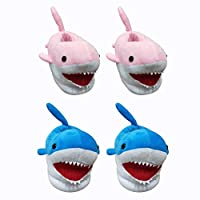 Per Cartoon Shark Winter Slippers Children House Creative Plush Shoes for Home