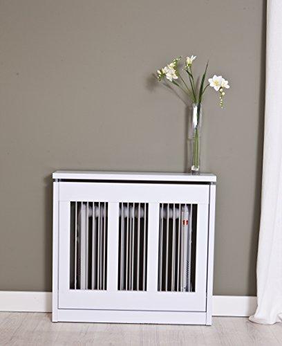 INTRADISA 3091 Cubre radiador, Metal, Blanco, 90 x 84 x 18