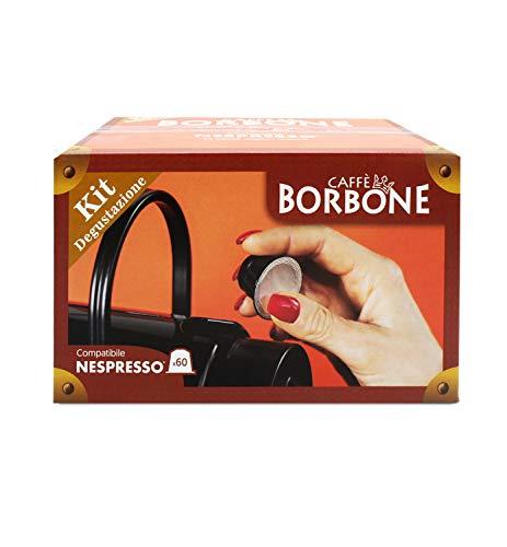 Caffè borbone kit degustazione compatibile nespresso® - 60 capsule (300 g)