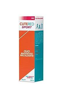 Cutered Sport Olio Massaggio Riscaldante • Riduce i Tempi Di Riscaldamento Pre Attività Sportiva • Peperoncino, Canfora, Rosmarino