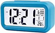 Festnight Smart Digital Alarm Clock with Date and Temperature Snooze Button on Top Battery Operated Rectangle