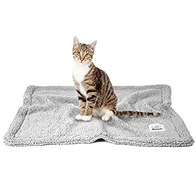 Allisandro Pet Premium Double Layer Throw Blanket – For Dog Cat Puppy Kitten – Super Soft Flannel – 39 Inches x 31 Inches