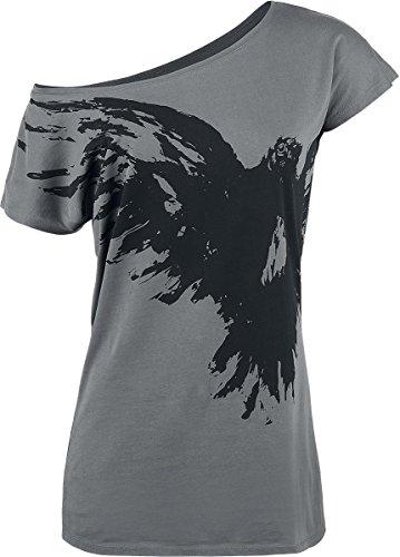 Black Premium by EMP Flying Raven Maglia donna grigio S