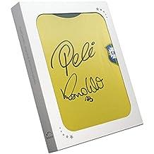 exclusivememorabilia.com Camisa Brasil firmada por Pelé y Ronaldo Luis Nazário de Lima. En