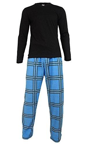 Pigiama-invernale-caldo-da-Uomo-in-pile-con-maglia-e-pantalone