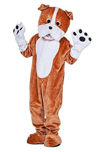 Maskottchen Kostüm Hunde - Wilbers Herren Maskottchen Kostüm Bulldogge Hund Karneval Fasching