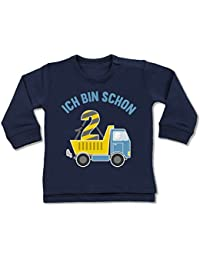 Shirtracer Geburtstag Baby - Ich Bin Schon 2 LKW - Baby Pullover