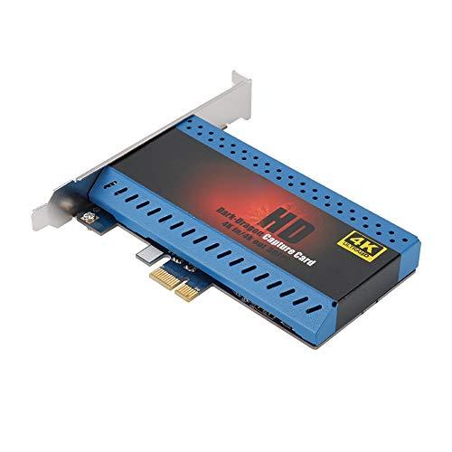 ASHATA Game Capture Card, Unterstützung für HDMI HD-Videoaufnahmekarten, 4K-Eingang und 4K-Ausgang, mit freiem PCIE-Anschluss, Eingang für Ps4, Xbox One/Xbox 360,Nintendo Switch/Wii U (Intel I5 Core 660)